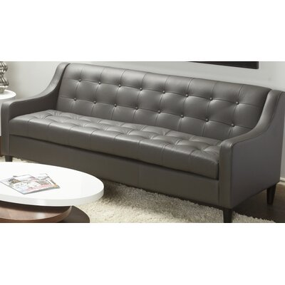 Cameo Leather Sofa Upholstery: Gray