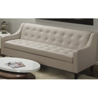 Cameo Leather Sofa Color: Mushroom