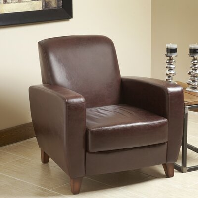 Modavi Top Grain Leather Club Chair
