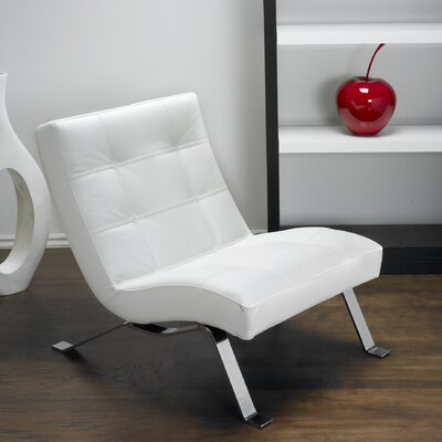Avalon Top Grain Leather Lounge Chair Upholstery: Polar White