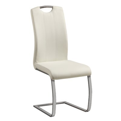 Langdon Side Chair Upholstery: White