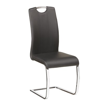 Langdon Side Chair Upholstery: Black