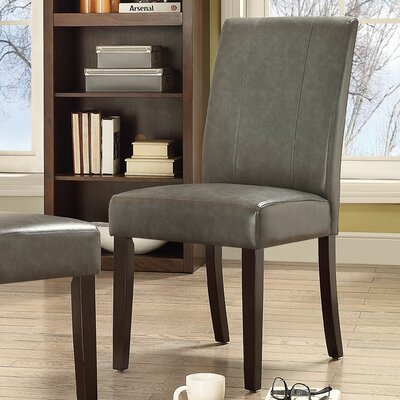 Marx Side Chair Upholstery: Grey