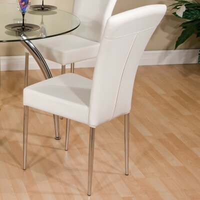 Venus Side Chair Upholstery: White