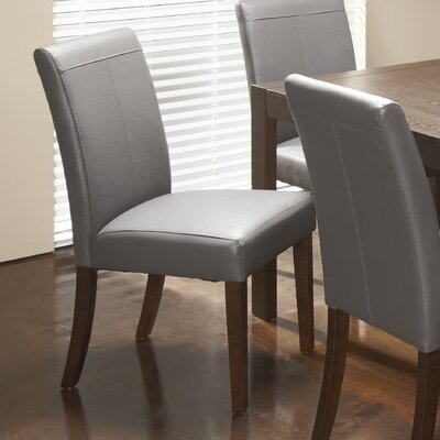 Royal Bonded Leather Upholstered Dining Chair Upholstery: Gray