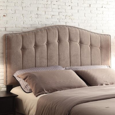 Napa Upholstered Panel Headboard Size: Full, Upholstery: Beige