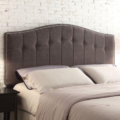 Napa Upholstered Panel Headboard Size: King, Upholstery: Grey