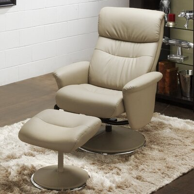 Solo Recliner and Ottoman Upholstery: Grey
