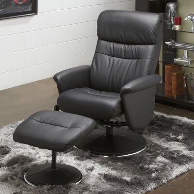 Solo Recliner and Ottoman Upholstery: Black