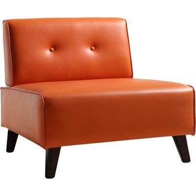 Retro Slipper Chair Color: Orange