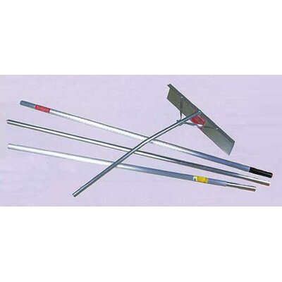 Aluminum Roof Rake for Snow 16' with 3 Piece Handle