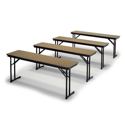 Training Table Tabletop Finish: Black, Size: 30 H x 24 W x 96 D