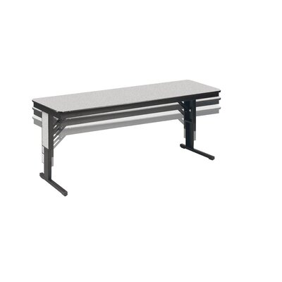 Training Table Size: 22 - 29 H x 60 W x 18 D, Tabletop Finish: Grey Glace