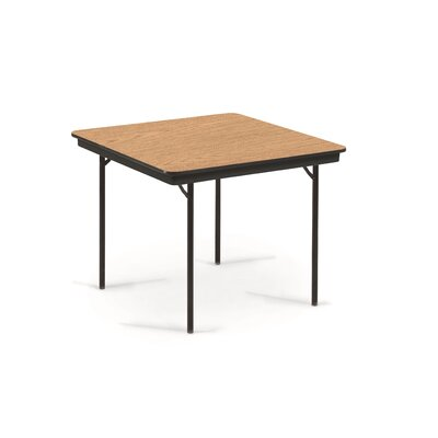 Square Conference Table Top Finish: Walnut, Size: 30 H x 30 W x 30 D
