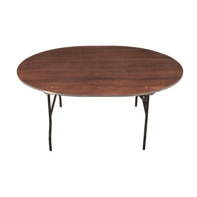 Circular Conference Table Top Finish: Walnut, Size: 30 H x 66 W x 66 D