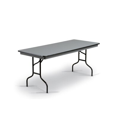 Hexalite Rectangular Conference Table Top Finish: Gray, Base Finish: Black, Size: 29 H x 30 W x 72 D