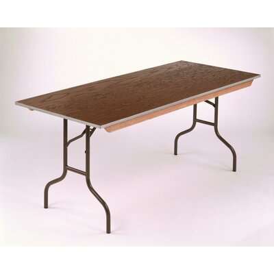 Rectangular Conference Table Base Finish: Brown, Size: 30 H x 30 W x 48 D