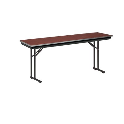 Training Table Tabletop Finish: Black, Size: 30 H x 18 W x 72 D