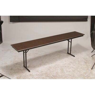Training Table Tabletop Finish: Black, Size: 30 H x 18 W x 96 D