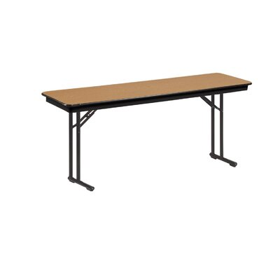 Training Table Tabletop Finish: Bannister Oak, Size: 30 H x 18 W x 72 D