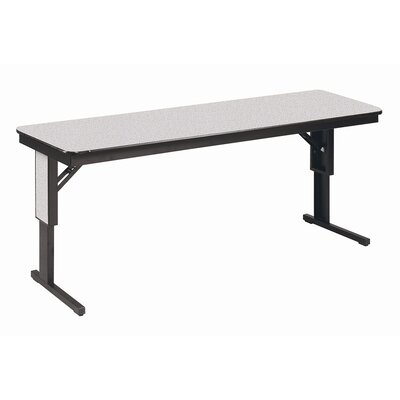 Training Table Tabletop Finish: Grey Glace, Size: 24 H x 72 W x 29 D