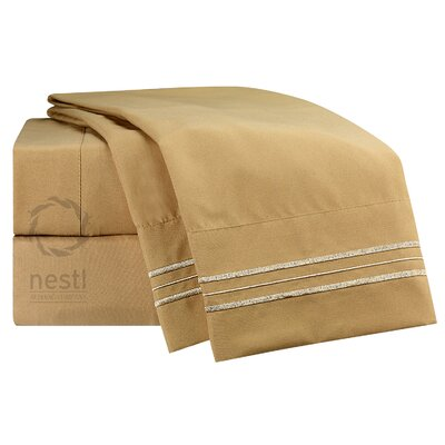 1800 Thread Count Bed Sheet Set Color: Camel