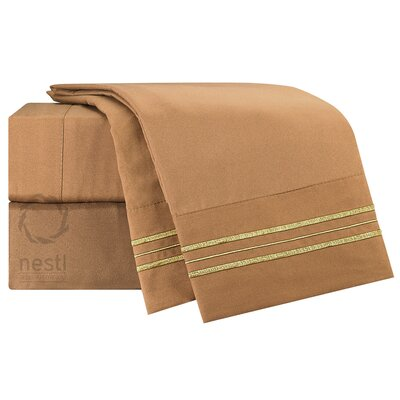 1800 Thread Count Bed Sheet Set Color: Mocha
