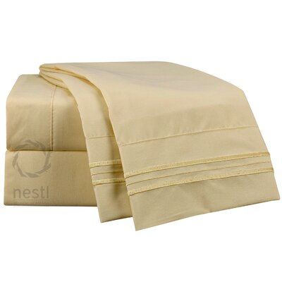 1800 Thread Count Goldfinch Bed Sheet Set Size: Twin