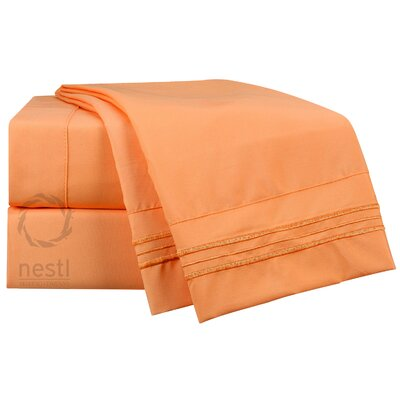 1800 Thread Count Oriole Bed Sheet Set Size: Queen