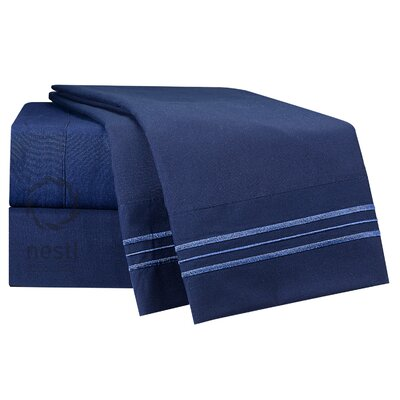 Microfiber Sheet Set Color: Navy Blue