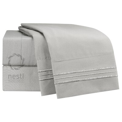 1800 Thread Count Mockingbird Bed Sheet Set Size: King