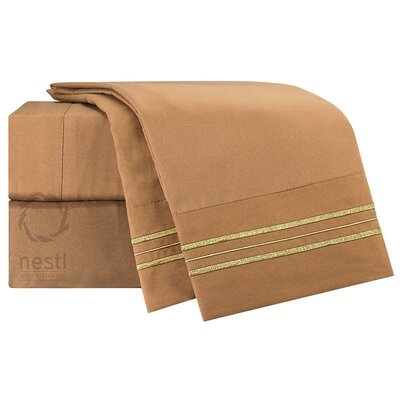 1800 Thread Count Sparrow Bed Sheet Set Size: Full