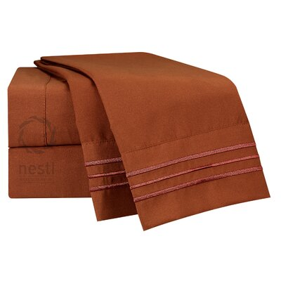 1800 Thread Count Nightingale Bed Sheet Set Size: California King