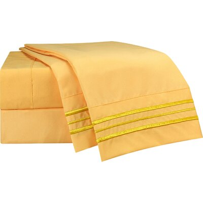 1800 Thread Count Warbler Bed Sheet Set Size: King