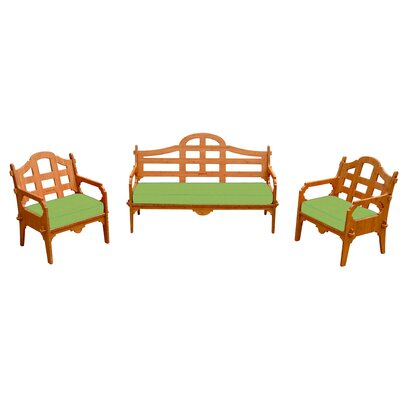 Burliegh Solid 6 Piece Lounge Seating Group with Cushions Fabric: Ginko Green