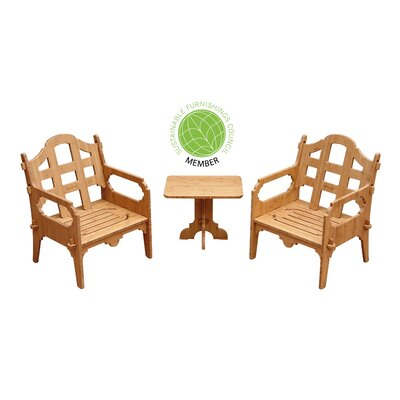 Burliegh Modern 3 Piece Lounge Seating Group