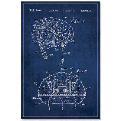 'Basketball Hoop Patent' Printed Print on Canvas Size: 48