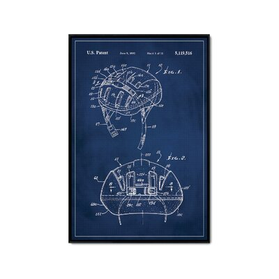 'Basketball Hoop Patent' Framed Print on Wrapped Canvas Size: 36