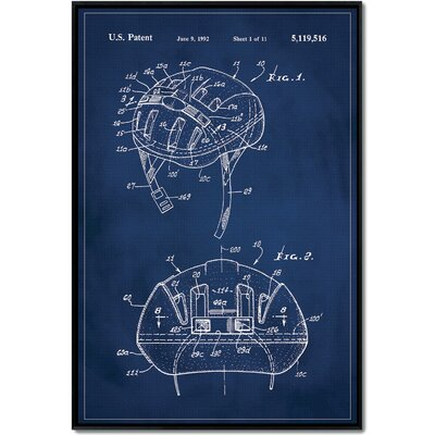 'Basketball Hoop Patent' Framed Print on Wrapped Canvas Size: 48
