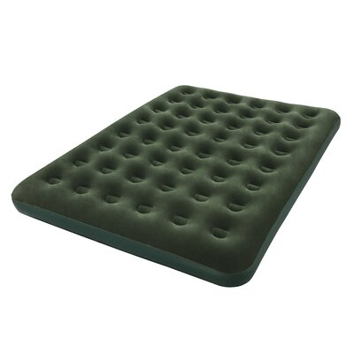 Queen Flocked 9 Air Mattress with D Cell Pump