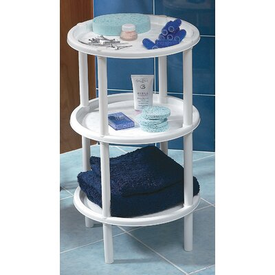 3 Tier End Table Finish: White
