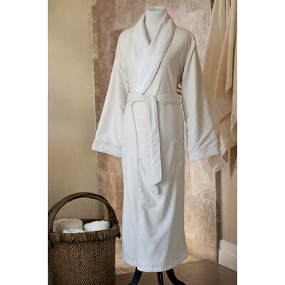 Essentials Bath Robe Size: Large, Color: Ivory