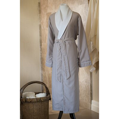 Essentials Bath Robe Size: Large, Color: Taupe