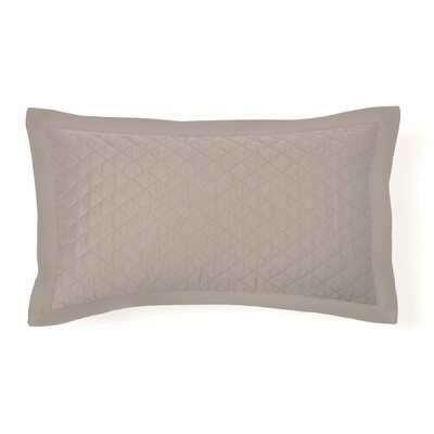 Eternal Diamond Quilted Sham Size: King, Color: Taupe