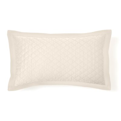 Eternal Diamond Quilted Sham Size: King, Color: Ivory