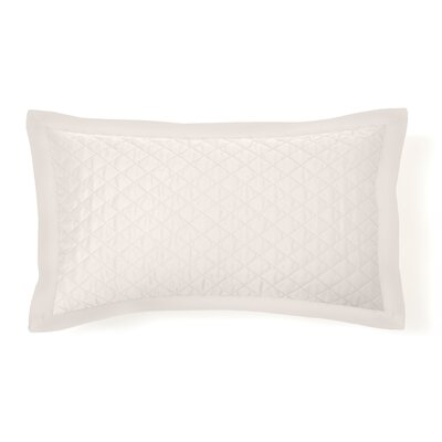 Eternal Diamond Quilted Sham Size: Standard, Color: White