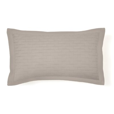 Eternal Madison Quilted Sham Color: Taupe, Size: Standard
