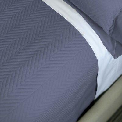 Eternal Matisse Luxury Quilted Blanket Color: Indigo, Size: King