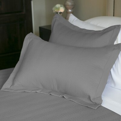 Eternal Matisse Quilted Sham Size: Standard, Color: Graphite