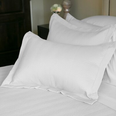 Eternal Matisse Quilted Sham Color: White, Size: Standard